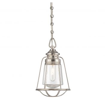 "Savoy House Vintage 7.75"" Mini Pendant in Satin Nickel"