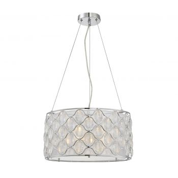 Savoy House Opus 3-Light Pendant in Polished Chrome