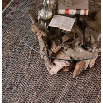Uttermost Tobais 9'X12' Rescued Leather & Hemp Rug