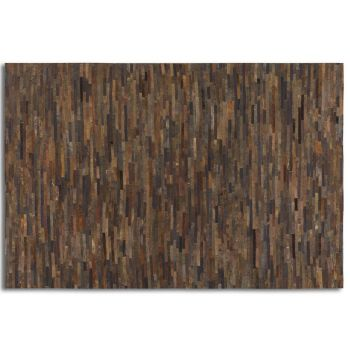 Uttermost Malone 8 X 10 Strips of Rescued Leather Rug in Rust Brown