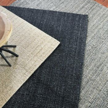 Uttermost Catrin 5 x 8 Hand Woven Wool Rug in Dark Charcoal
