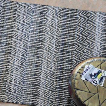 Uttermost Bolivia 5 x 8 Rug in Natural Wool/Rescued Denim