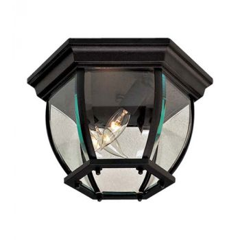 The Great Outdoors 3-Light Flush Mount in Black