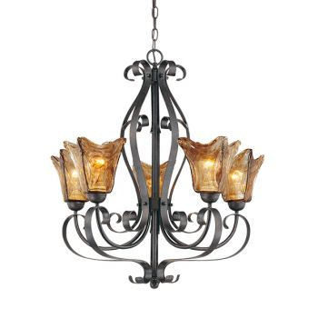 Millennium Lighting Chatsworth 5-Light Chandelier in Burnished Gold