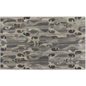 Uttermost Sepino 9 X 12 Ikat Design Wool Rug in Gray