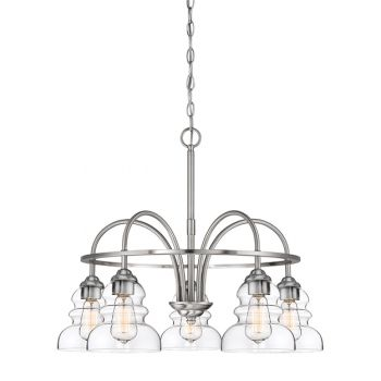 Millennium Lighting 7000 Series 5-Light Chandelier in Satin Nickel