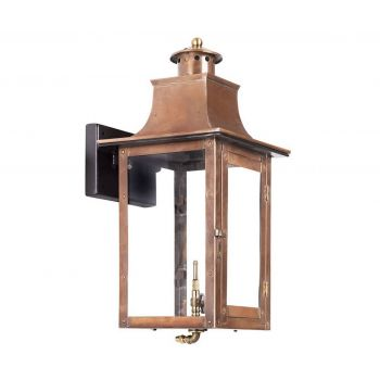 "Elk Maryville 20"" Outdoor Gas Wall Lantern in Aged Copper"