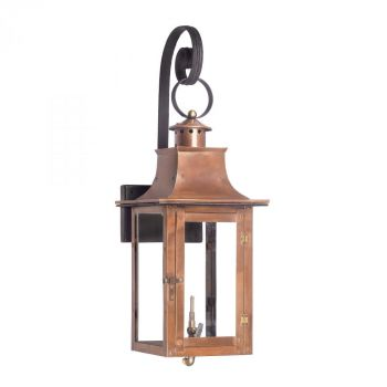 Elk Lighting Maryville Gas Outdoor Wall Lantern in Aged Copper