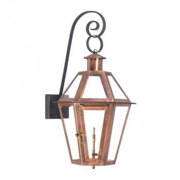 Elk Lighting Grande Isle Gas Outdoor Wall Lantern in Aged Copper