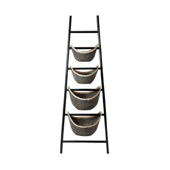 Dimond Home Signature Ladder Basket in Black