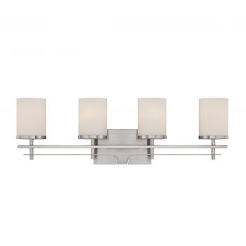 Savoy House Colton 4-Light Vanity Bar in Satin Nickel