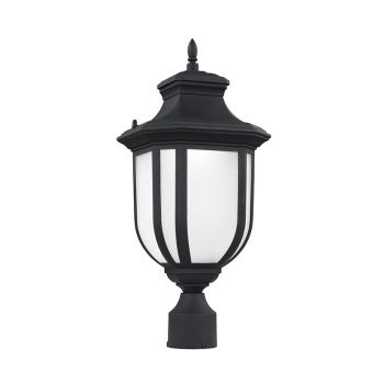 Sea Gull Lighting Childress LED Outdoor Post Lantern in Black