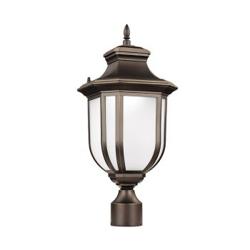 Sea Gull Lighting Childress LED Outdoor Post Lantern in Antique Bronze