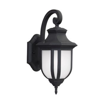 Sea Gull Lighting Childress Medium LED Outdoor Wall Lantern in Black