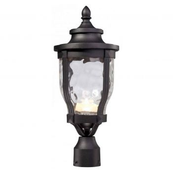 The Great Outdoors Wynterfield LED Post Mount in Black
