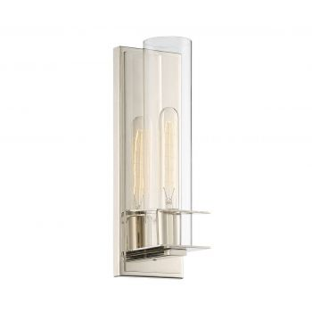 Savoy House Hartford 1-Light Sconce in Polished Nickel