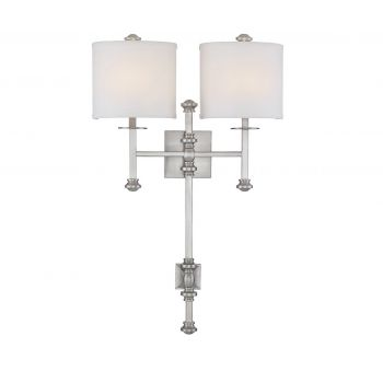 Savoy House Devon 2-Light Sconce in Satin Nickel