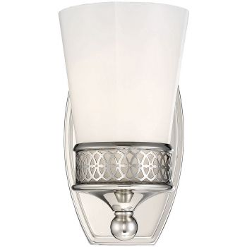 """Savoy House Hammond 8"""" Wall Sconce in Polished Nickel"""