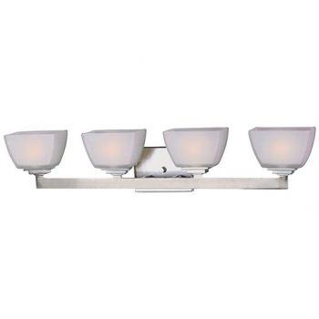 Maxim Lighting Angle 4-Light Bath Vanity in Satin Nickel