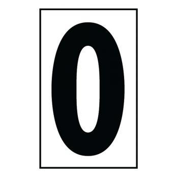 """Sea Gull Lighting Address Light """"Zero"""" Number Tile in White Plastic"""