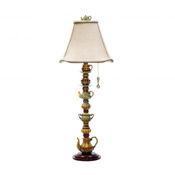 "Dimond Tea Service Candlestick 35"" Teacup Table Lamp in Burwell"
