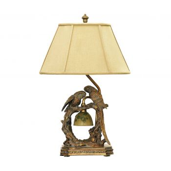 "Dimond Twin Parrots 25"" Table Lamp in Atlanta Bronze"