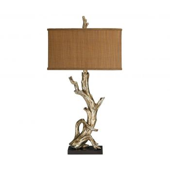 "Dimond Driftwood 35"" Table Lamp in Silver Leaf"