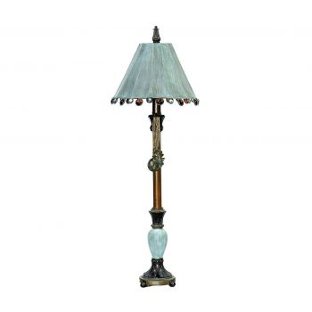 "Dimond Rustic Tiffany 30"" Table Lamp in Bronze and Blue"