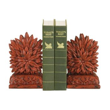 Sterling Industries Pair of Red Floral Bookends