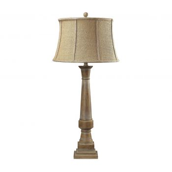 "Dimond Lyerly 37"" Bleached Wood Table Lamp"
