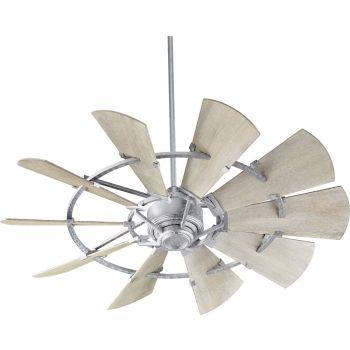 "Quorum International Windmill 52"" Fan in Galvanized"
