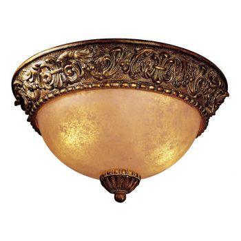 Minka Lavery Belcaro 2-Light Flush Mount in Bronze