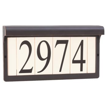 "Sea Gull Lighting Address Light 12.38"" Address Light in Antique Bronze"