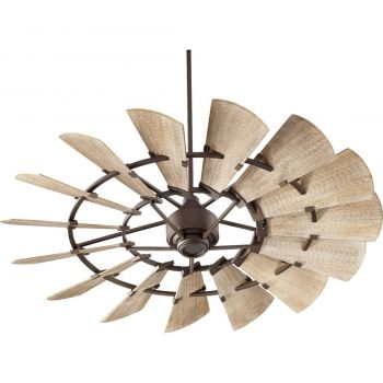 """Quorum Windmill 60"""" 15-Blade Indoor Ceiling Fan in Oiled Bronze"""