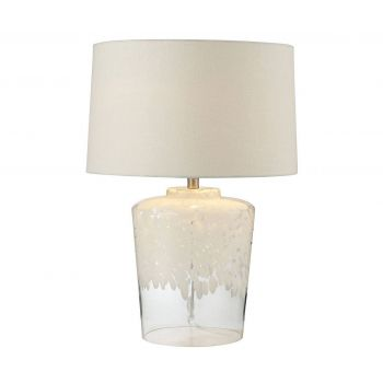 "Dimond Flurry Frit 25"" Well Boutique Glass Lamp"