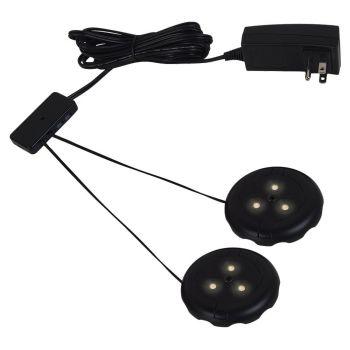 Sea Gull Lighting LED Disk Kits 2-Light 3000K Disk Kit in Black