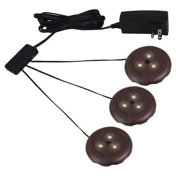 Sea Gull Lighting LED Disk Kits 3-Light 3000K Disk Kit in Plated Bronze