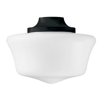 Hunter Damp-Rated Traditional Globe Light Kit in Black