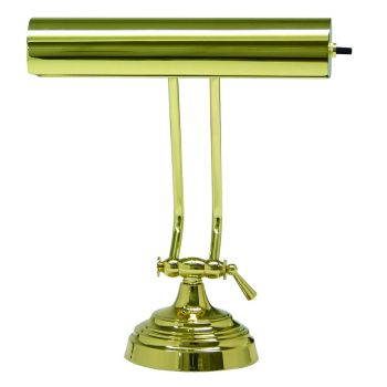 """House of Troy Advent 10"""" Polished Brass Piano Desk Lamp"""