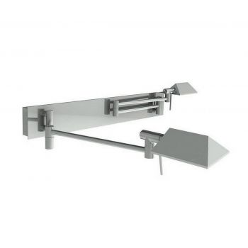 WAC Lighting Cue Collection LED Double Swing Arm in Chrome
