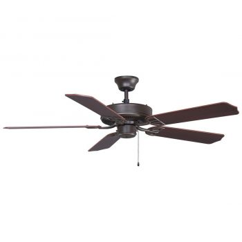 "Fanimation 52"" Aire Decor Outdoor Ceiling Fan in Bronze w/Cherry-Walnut Blades"