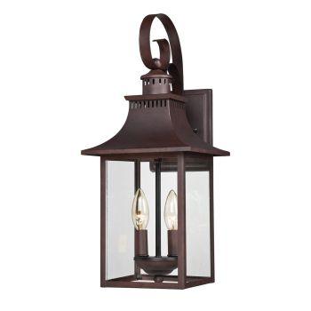 Quoizel Chancellor 2-Light Outdoor Lantern in Copper Bronze