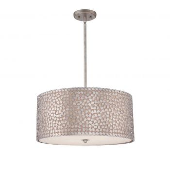 Quoizel Confetti 4-Light Pendant in Silver Finish
