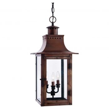 """Quoizel Chalmers 12"""" Outdoor Lantern in Copper Finish"""