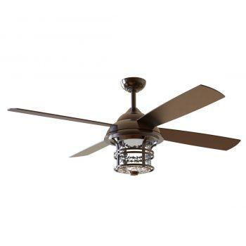 "Craftmade Courtyard 56"" Ceiling Fan w/ Blades in Oiled Bronze"
