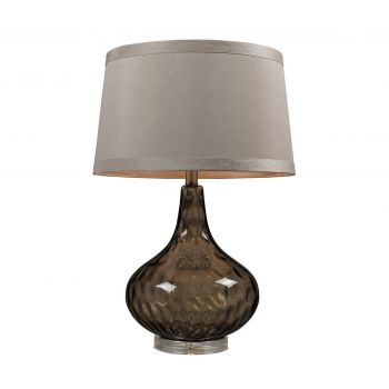 "Dimond HGTV 24"" Water Glass Table Lamp in Smoked Coffee w/Taupe"