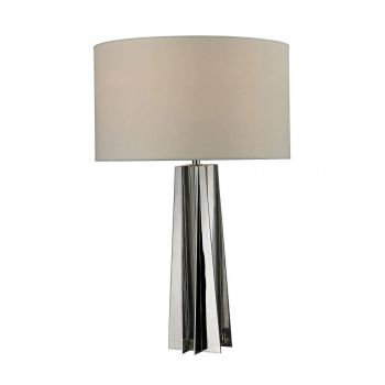 "Dimond Ranick 25"" Clear Crystal Table Lamp in Chrome"