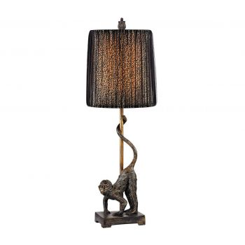 "Dimond Aston 26"" Monkey Table Lamp in Bronze"
