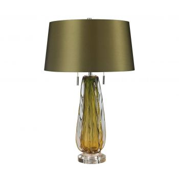 "Dimond Modena 26"" Blown Glass Table Lamp in Green w/Shade"