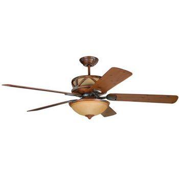 "Craftmade Deer Lodge 60"" Ceiling Fan in Dark Mahogany & Iron"